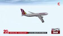 لحظة سقوط الطائرة الألمانية بتقنية الثري دي