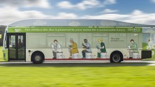 Poop Powered Bus الحافلة التي وقودها البراز