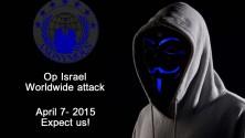 هاكرز أنونيموس يبدؤون هجومهم الإلكتروني على الكيان الصهيوني