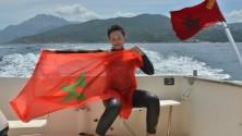 أول مغربية هاوية تنجح في قطع مضيق جبل طارق سباحة