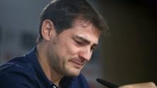بكاء إيكر كاسياس أثناء إعلانه خبر مغادرته لريال مدريد