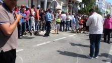 لحظة الهجوم المسلح على ناقلة أموال بمدينة طنجة