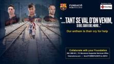 نادي برشلونة يطلق حملة تضامن لمساعدة اللاجئين السوريين