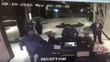 كاميرا المراقبة بفندق بالدار البيضاء تصور بدر هاري وهو يصفع موظف استقبال