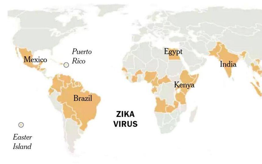 الدول-المصابة-بفيروس-زيكا