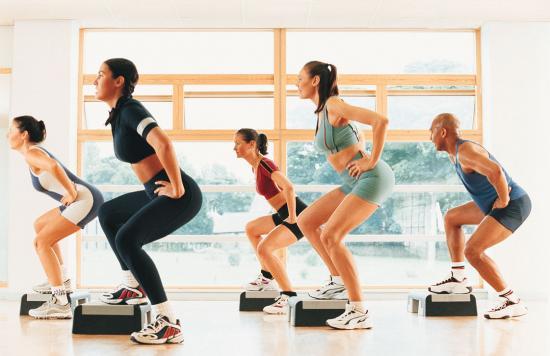 step-aerobics