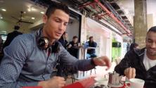 هذا ما يحصل عندما يقرر كريستيانو رونالدو احتساء كوب من الشاي في أحد مقاهي العاصمة الإسبانية مدريد