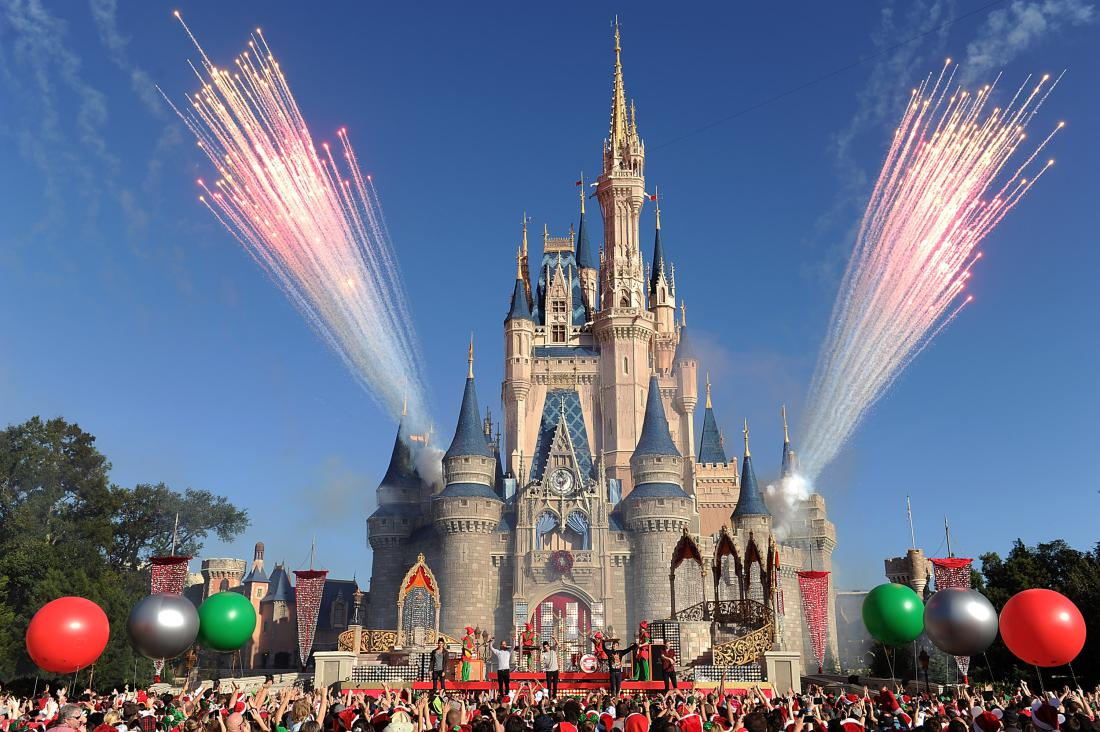 """LAKE BUENA VISTA, FL - DECEMBER 06: In this handout photo provided by Disney Parks, English-Irish boy band The Wanted performs """"Santa Claus is Coming To Town"""" while taping the Disney Parks Christmas Day Parade TV special December 6, 2013 at the Magic Kingdom park at Walt Disney World Resort in Lake Buena Vista, Florida. The 30th annual holiday telecast airs December 25 on ABC-TV. The show also will air in Canada on CBC Network, and across the globe on the American Forces Network. (Photo by Mark Ashman/Disney Parks via Getty Images)"""