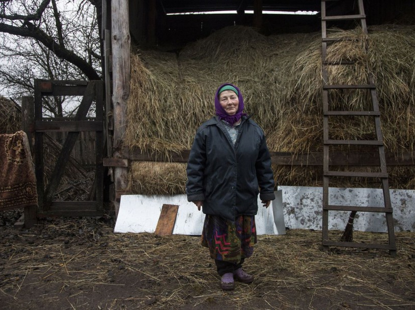 Tatiana returned to her evacuated city Narodichi soon after being evacuated. 30 years after The Chernobyl's disaster thousands of people are still living in contaminated land. Narodichi district, UKRAINE - 07/04/2016./VALEROQUINTINA_UKR.061/Credit:Quintina Valero/SIPA/1604112020