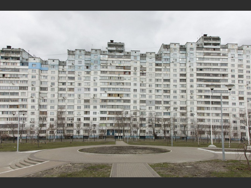 After Chernobyl's disaster many people were relocated from the evacuated town of Prypiat to these apartments in Kiev. UKRAINE - 13/03/2016./VALEROQUINTINA_UKR.059/Credit:Quintina Valero/SIPA/1604112020