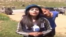 إسرائيلي استفز مراسلة فلسطينية على الهواء، فكان هذا ردها…