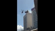 طائرة هليكوبتر وانفجارات وسط مدينة الدار البيضاء