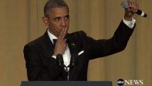 باراك أوباما يختتم خطابه الأخير على طريقة محترفي كرة السلة : 'أوباما خارج'