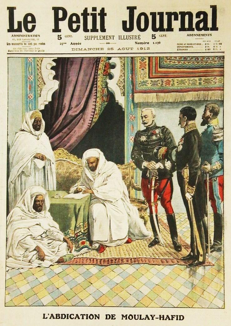 000-1912-camp mili-sultan-my hafid-protécto-fès-1912-