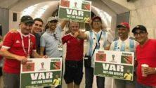 """كأس العالم 2018: الجماهير المغربية سترفع شعار """"VAR IS NOT FOR AFRICA"""" في مباراة المغرب وإسبانيا"""
