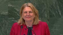 سابقة: وزيرة الخارجية النمساوية تلقي خطابها باللغة العربية من قلب الأمم المتحدة