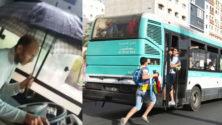 """""""شيفور"""" طوبيس نقل المدينة يُطرد من عمله بسبب استعماله لمظلة تحميه من المطر"""