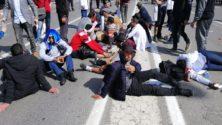 الأساتذة المتعاقدون يواجهون هراوات رجال الأمن وخراطيم الميته بالرباط